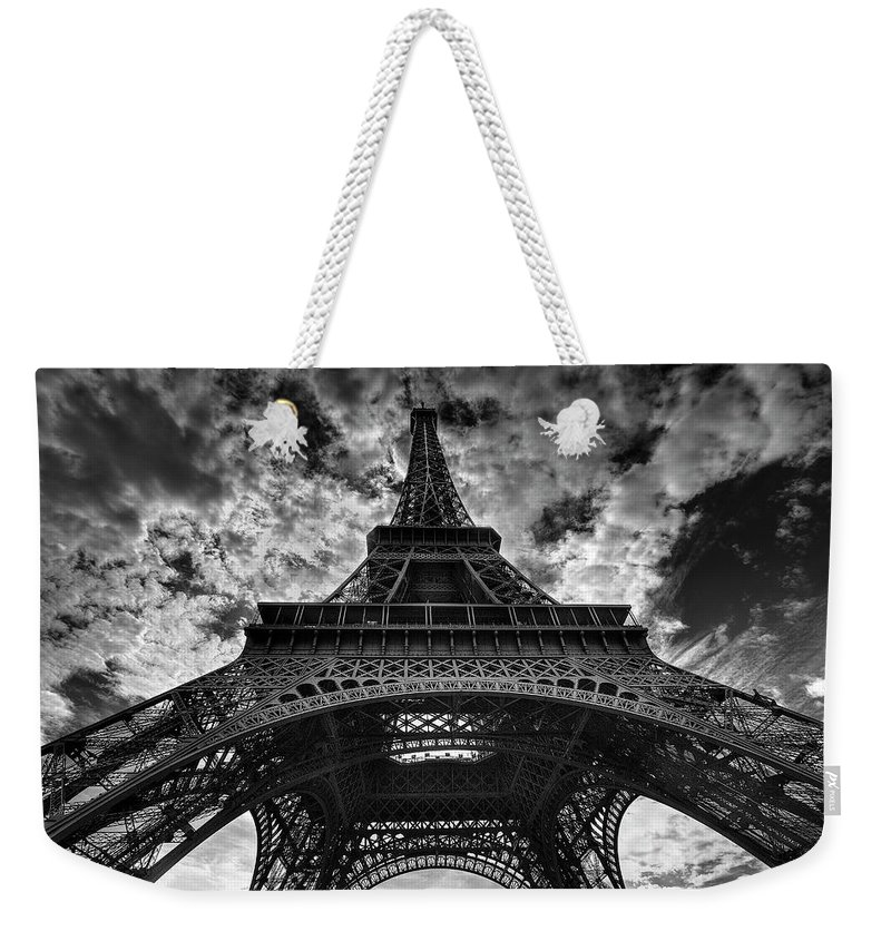 Arch Weekender Tote Bag featuring the photograph Eiffel Tower by Allen Parseghian