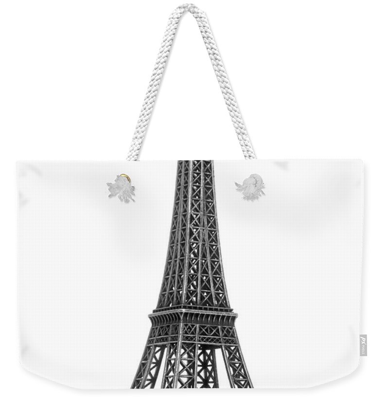 Architectural Model Weekender Tote Bag featuring the photograph Eiffel Tower by Jamesmcq24