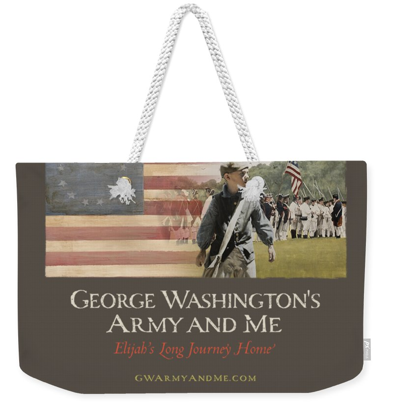 America Weekender Tote Bag featuring the digital art Elijah And George Film by 18th Century Slang