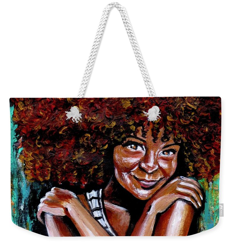 Love Weekender Tote Bag featuring the painting Embraced by Artist RiA
