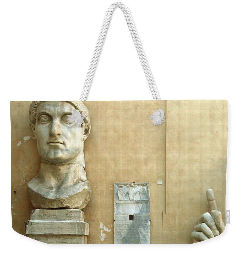 Statue Weekender Tote Bag featuring the photograph Emperor Constantine by Manuelvelasco