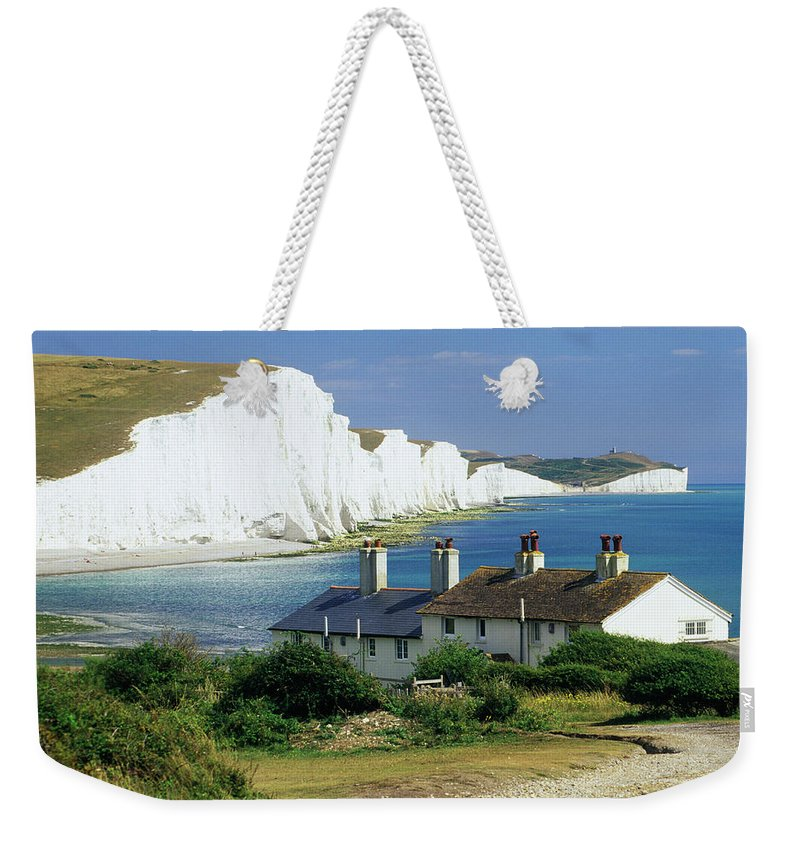 Scenics Weekender Tote Bag featuring the photograph England, Sussex, Seven Sisters Cliffs by David C Tomlinson