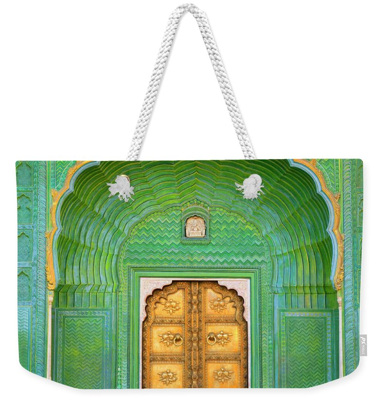Tranquility Weekender Tote Bag featuring the photograph Entrance To Palace by Grant Faint