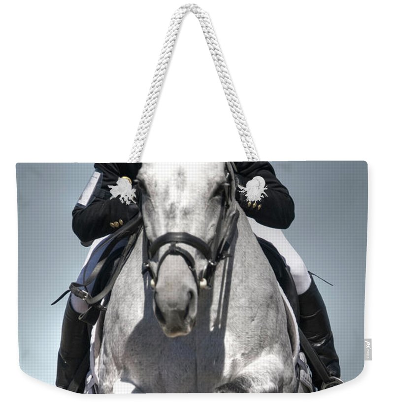 Horse Weekender Tote Bag featuring the photograph Equestrian Jumper by Rhyman007