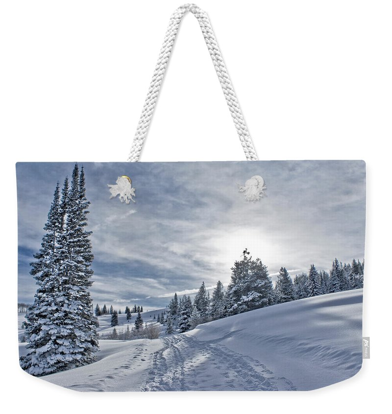 Shadow Weekender Tote Bag featuring the photograph Escape From Beaver Creek by Rauch Jonathan Photographies