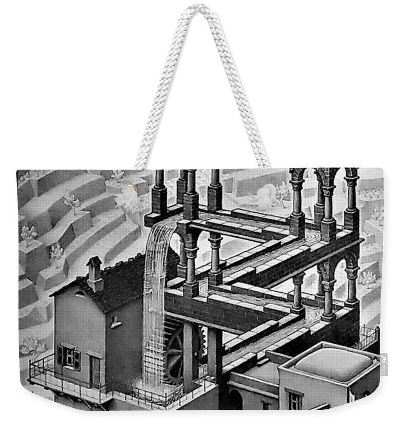 Maurits Cornelis Escher Weekender Tote Bag featuring the photograph Escher 128 by Rob Hans