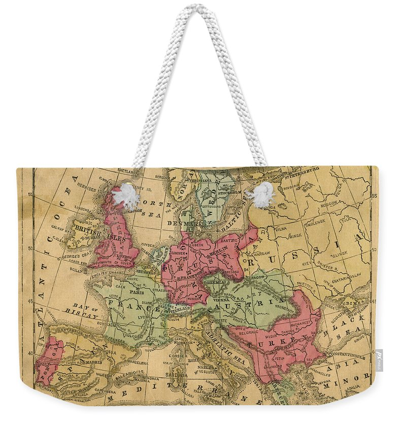 Greek Culture Weekender Tote Bag featuring the photograph Europe Map by Belterz