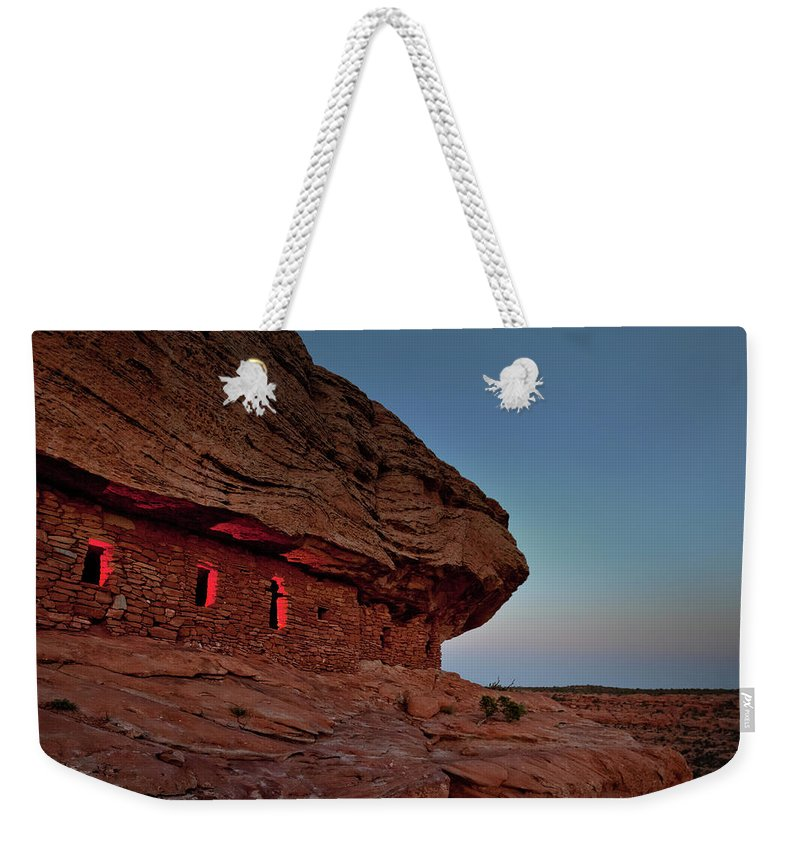 Tranquility Weekender Tote Bag featuring the photograph Evening At The Citadel by Doorways To The Past