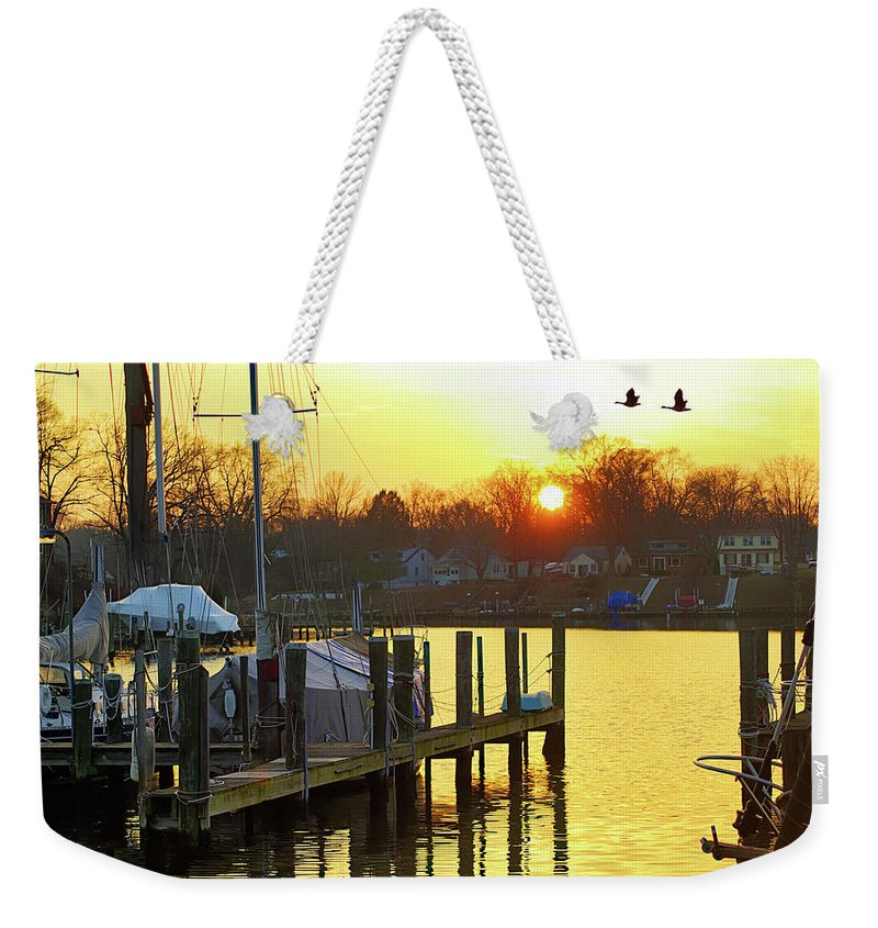 2d Weekender Tote Bag featuring the photograph Evening Light Bidding Goodnight by Brian Wallace