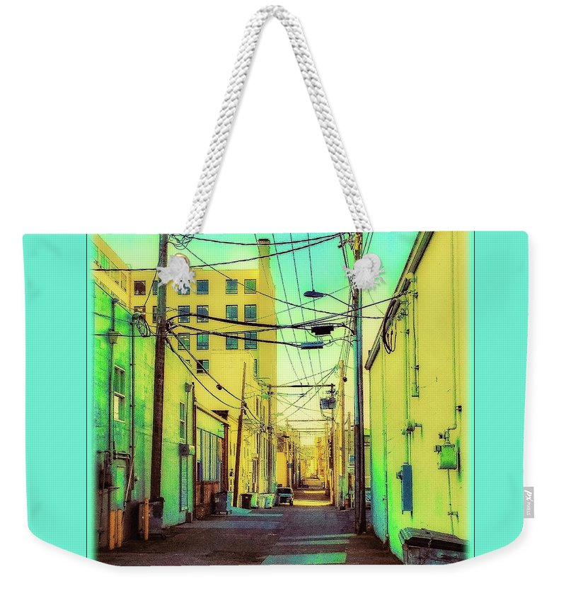 Everett Weekender Tote Bag featuring the photograph Everett Alley by Tobeimean Peter