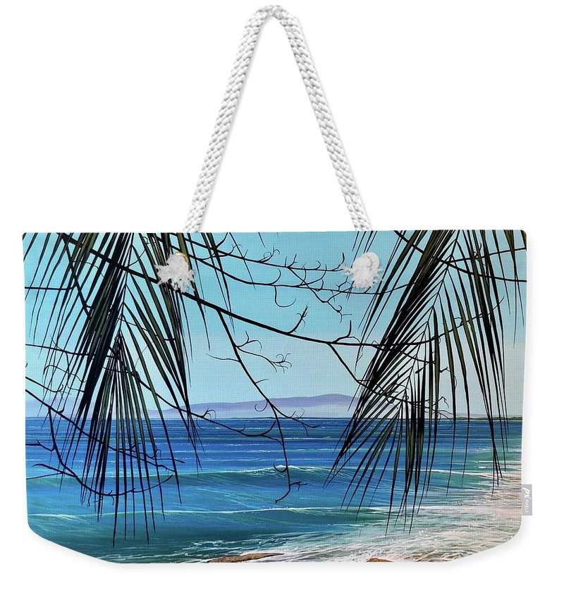 Beach Weekender Tote Bag featuring the painting Everything's Different Now by Hunter Jay