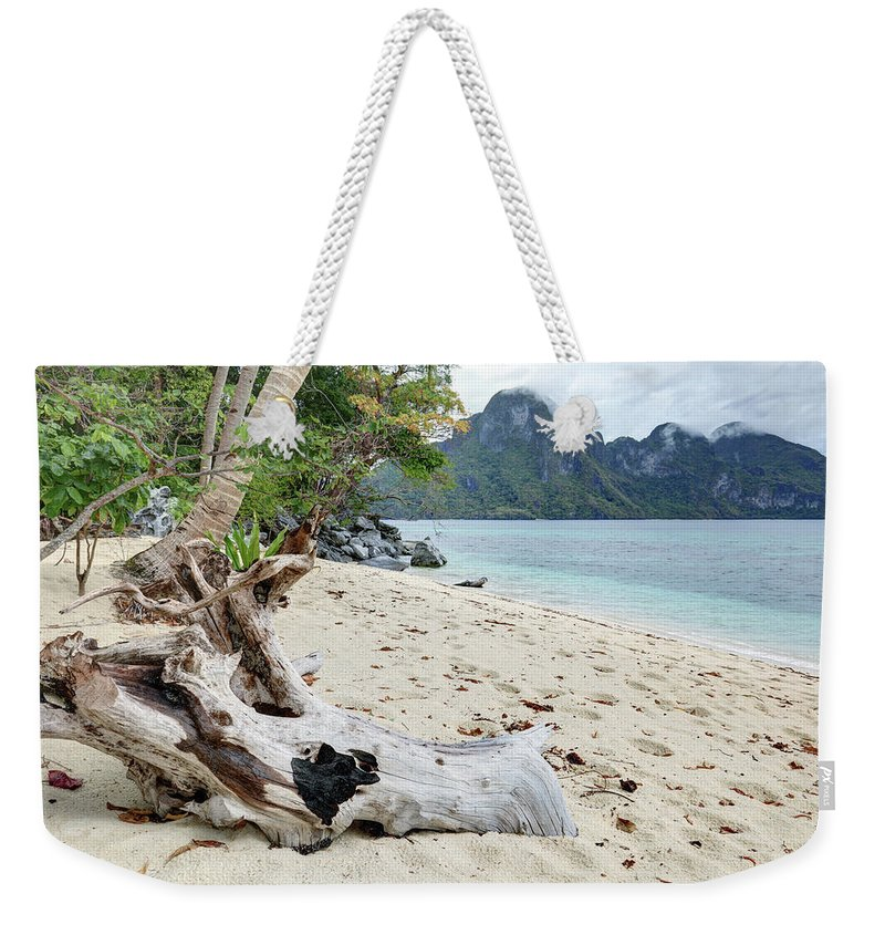 Water's Edge Weekender Tote Bag featuring the photograph Exotic Beach by Vuk8691
