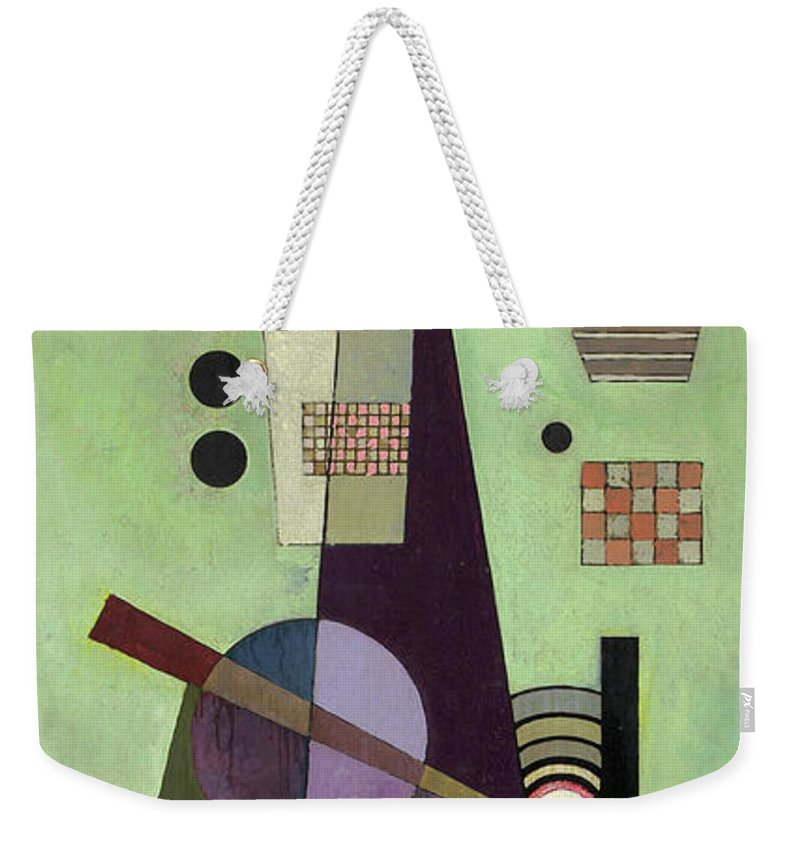 Kandinsky Extended Weekender Tote Bag featuring the painting Extended - Ausgedehnt by Wassily Kandinsky