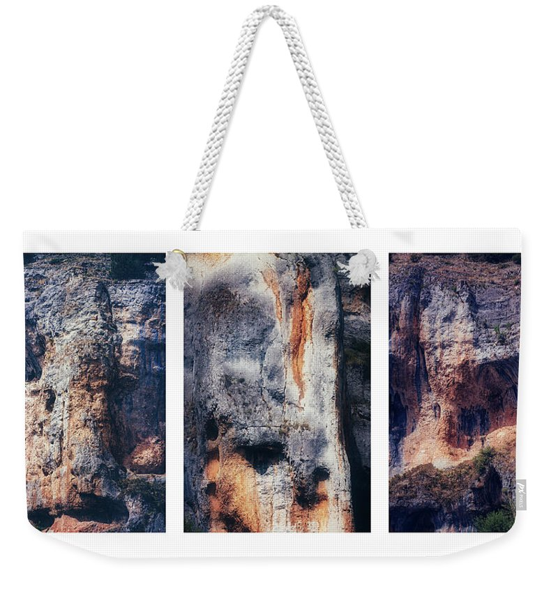 Rock Weekender Tote Bag featuring the photograph Texture Of Rocks In Canyon  by Carlos Munoz Martin