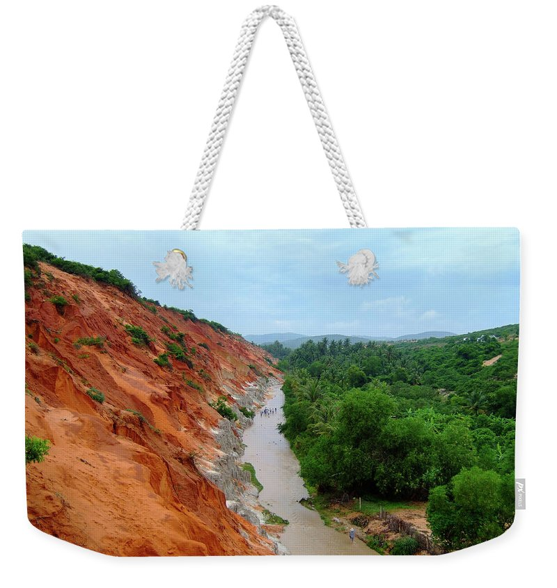 Tranquility Weekender Tote Bag featuring the photograph Fairy Springs In Mui Ne by Thomas Davis