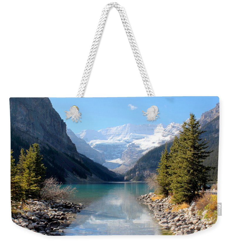 Tranquility Weekender Tote Bag featuring the photograph Fall At Lake Louise , Alberta, Canada by Cynthia Russell Photography