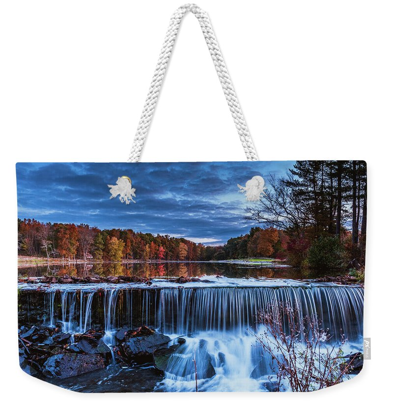 Landscape Weekender Tote Bag featuring the photograph Fall In The Hudson Valley by Gina Santos