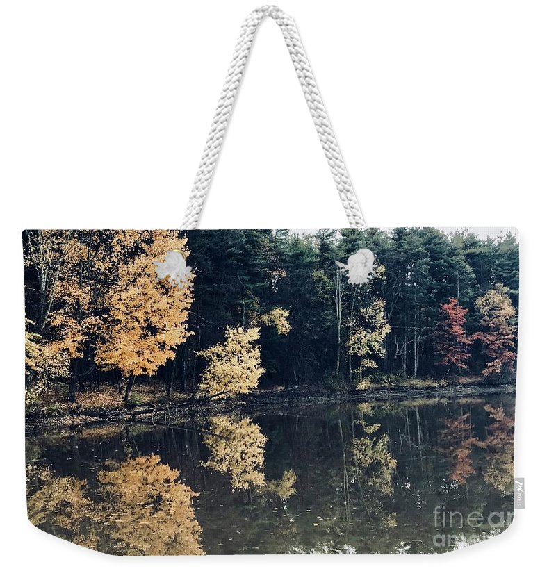 Fall Mirrors Weekender Tote Bag featuring the photograph Fall Mirrors 2 by Michael Krek