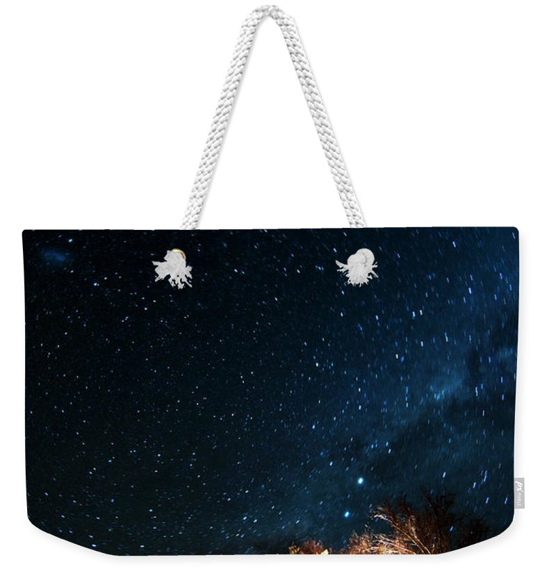 Northern Cape Province Weekender Tote Bag featuring the photograph Farm House And Milky Way by Subman