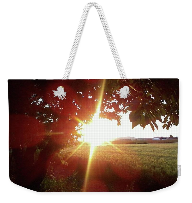 Weekender Tote Bag featuring the photograph Farm Land by James Harris