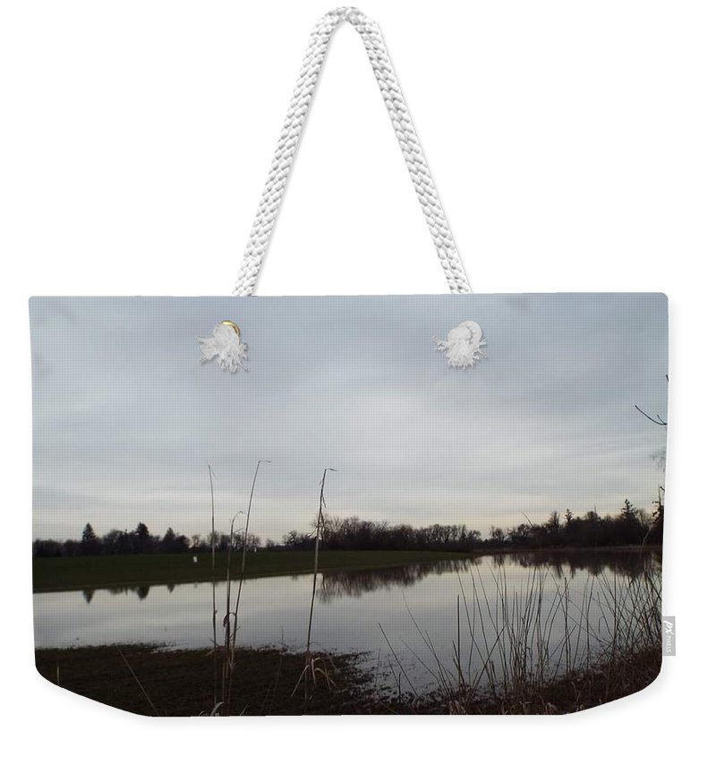 Weekender Tote Bag featuring the photograph Farm Pond by James Harris