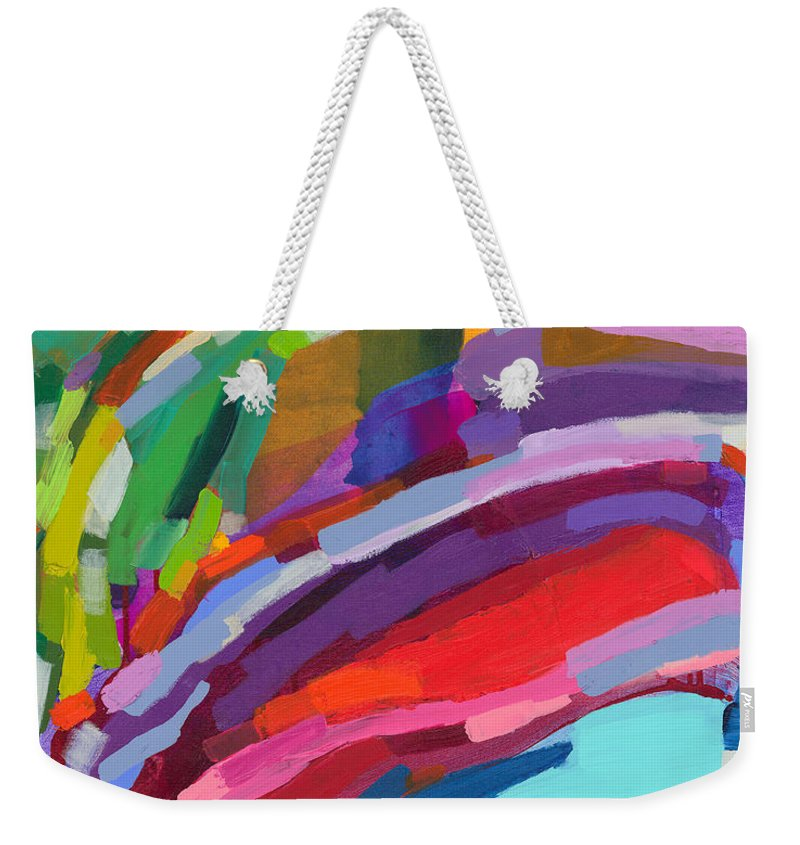 Abstract Weekender Tote Bag featuring the painting Felicity by Claire Desjardins