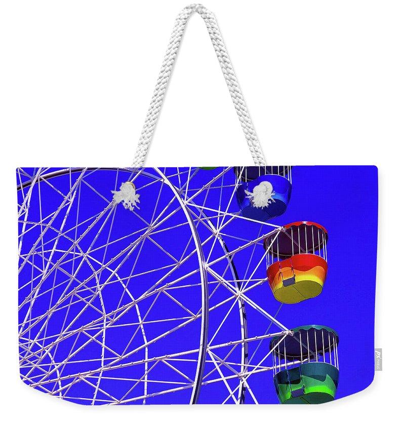 Outdoors Weekender Tote Bag featuring the photograph Ferris Wheel, Sydney, Australia by Hans-peter Merten