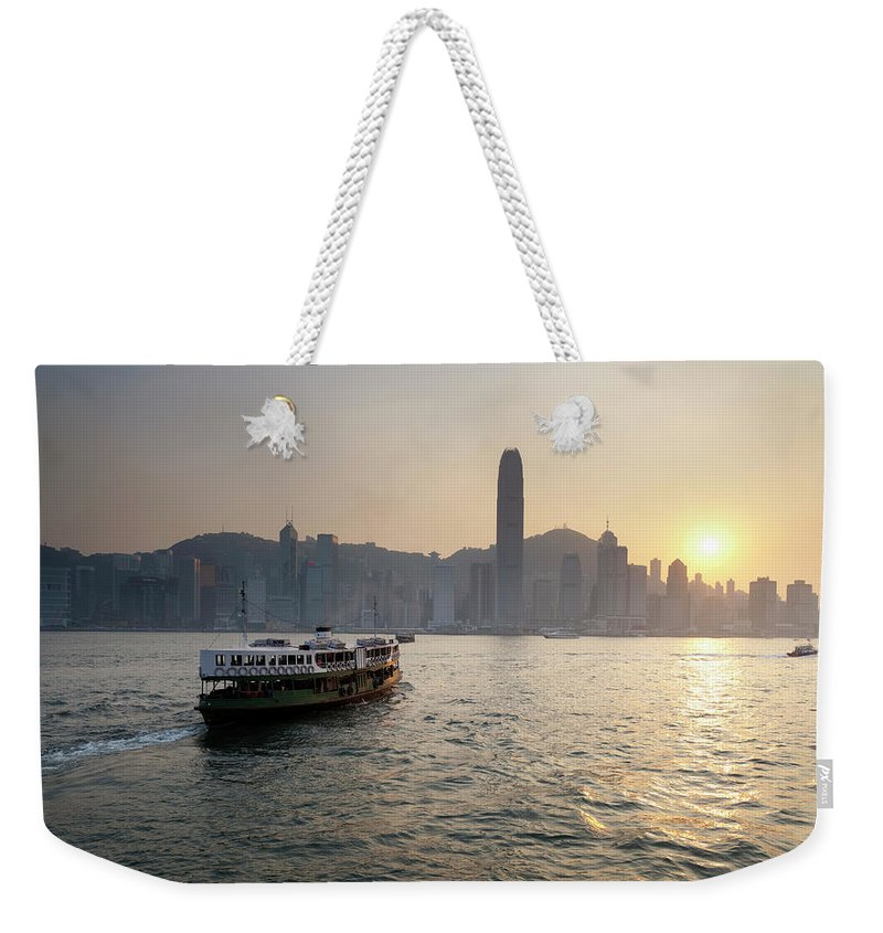 Chinese Culture Weekender Tote Bag featuring the photograph Ferry Boat To Hong Kong by Simonbradfield