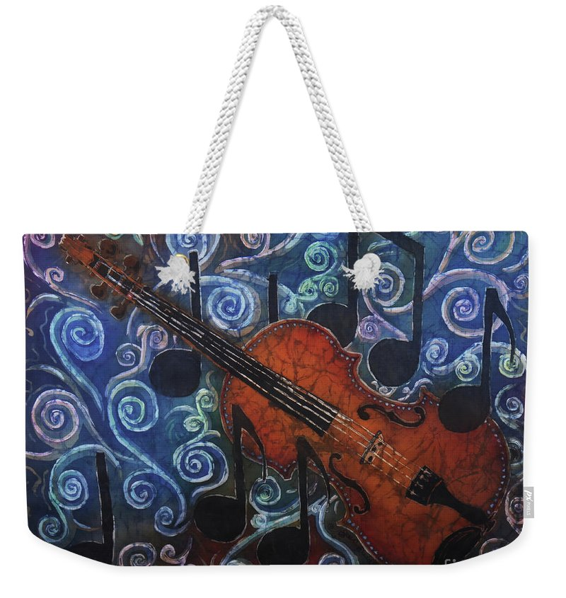 Fiddle Weekender Tote Bag featuring the painting Fiddle 1 by Sue Duda