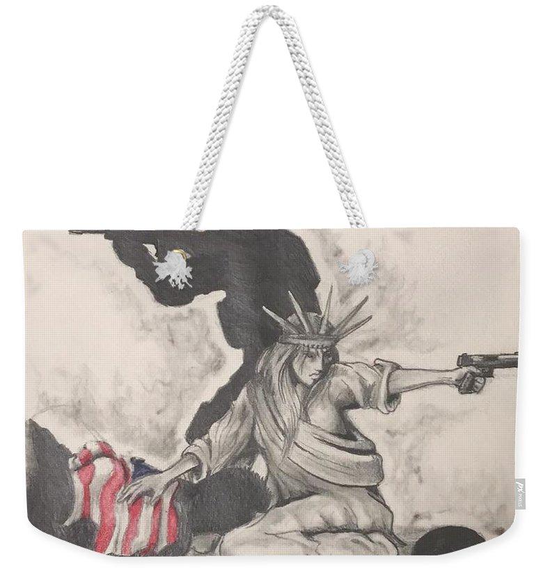 Usmc Weekender Tote Bags