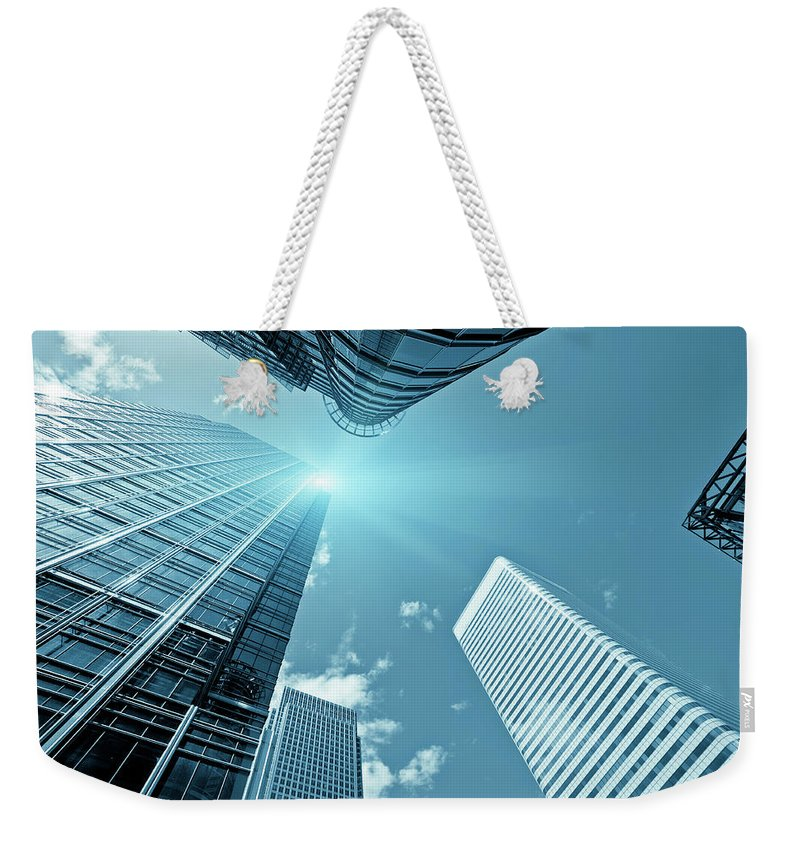 Working Weekender Tote Bag featuring the photograph Financial District, Canary Wharf In by Zodebala