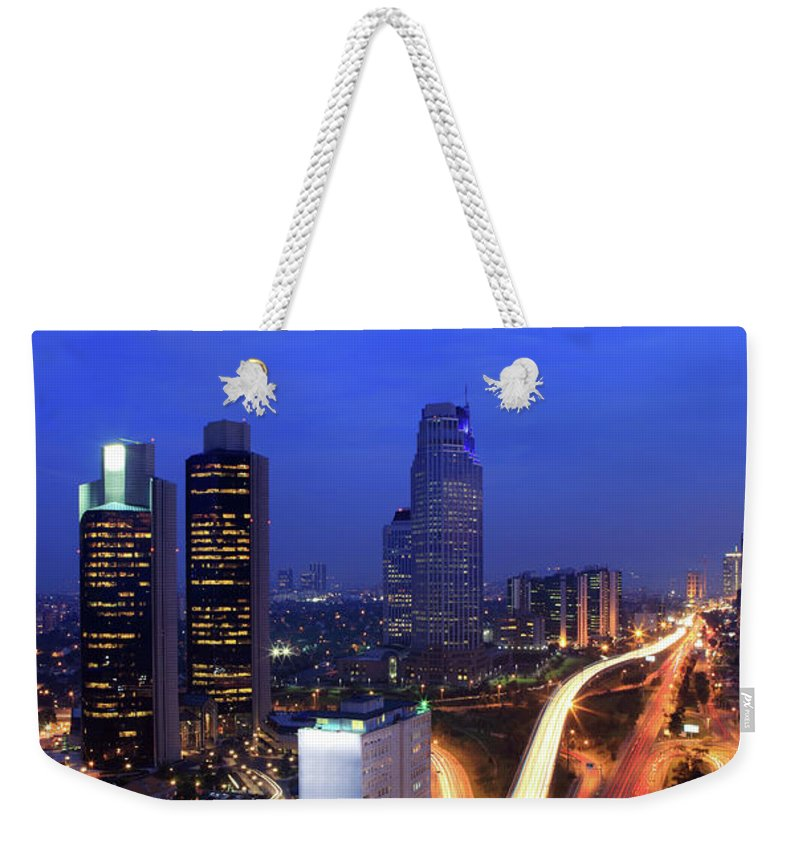 Long Weekender Tote Bag featuring the photograph Financial District Of Istanbul by Muratkoc