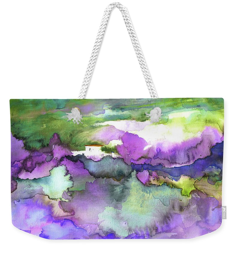 Travel Weekender Tote Bag featuring the painting Finca On The Costa Blanca 01 by Miki De Goodaboom