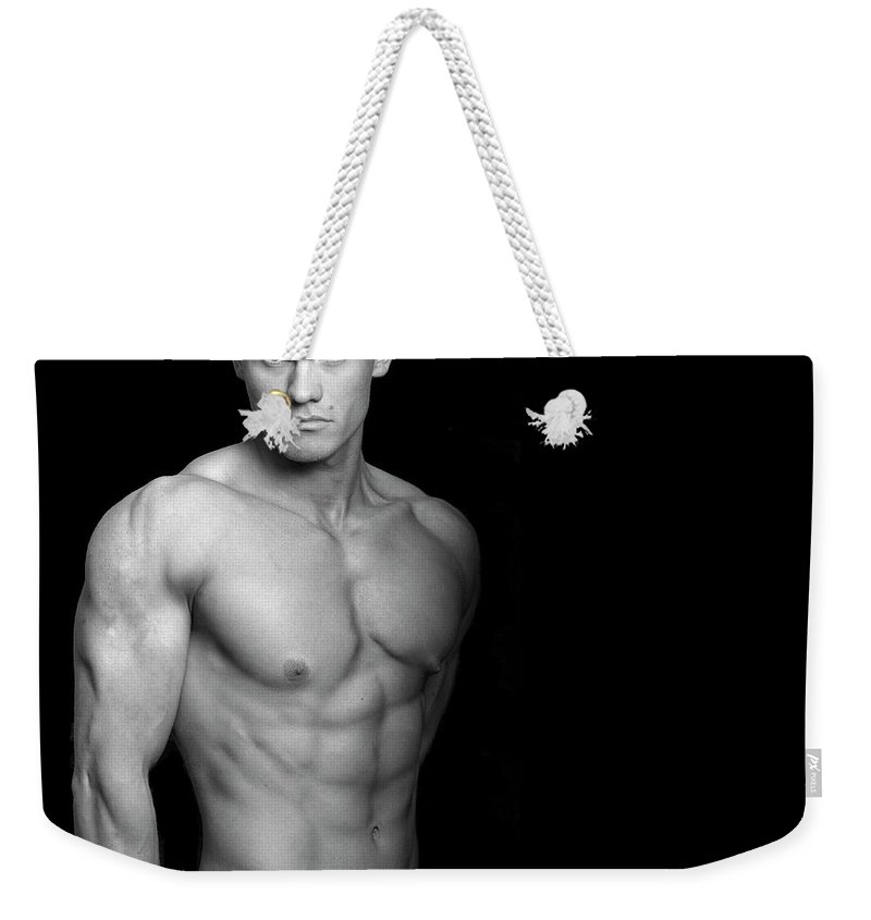 Cool Attitude Weekender Tote Bag featuring the photograph Fitness Portrait by Ragnak