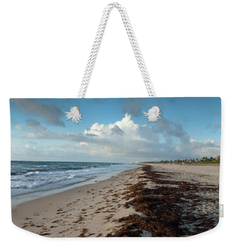 Scenics Weekender Tote Bag featuring the photograph Florida Beach With Gentle Waves And by Drnadig