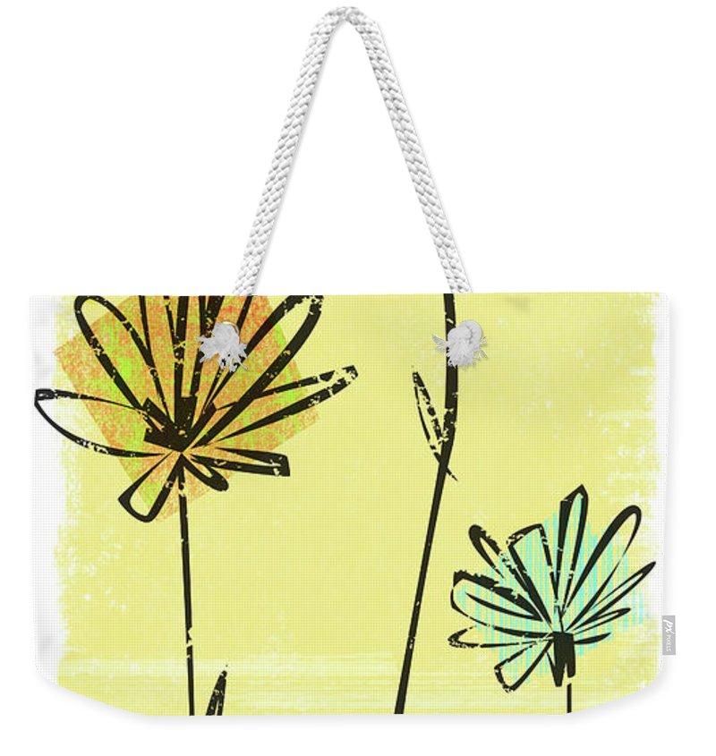 California Weekender Tote Bag featuring the digital art Flowers In Springtime by Harry Briggs