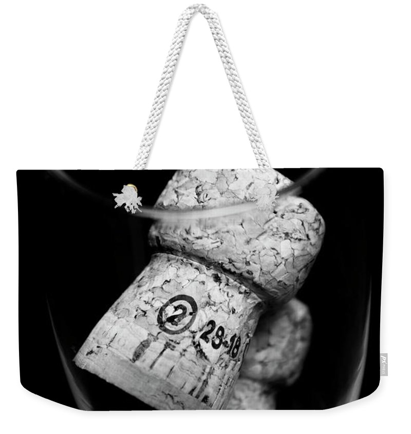 Wine Weekender Tote Bag featuring the photograph Flute Celebration by Jorgo Photography - Wall Art Gallery