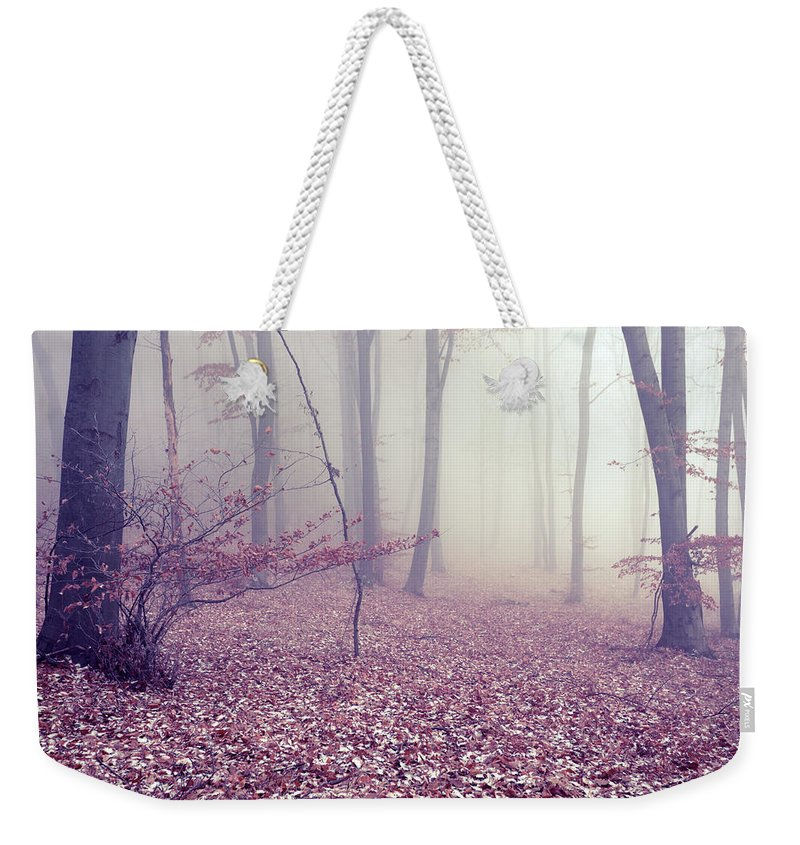 Spooky Weekender Tote Bag featuring the photograph Fog by Floriana