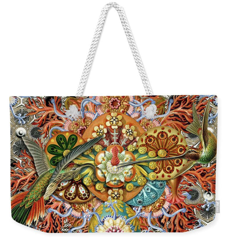 Hummingbird Weekender Tote Bag featuring the digital art Forms of Nature #1 by Kenneth Rougeau