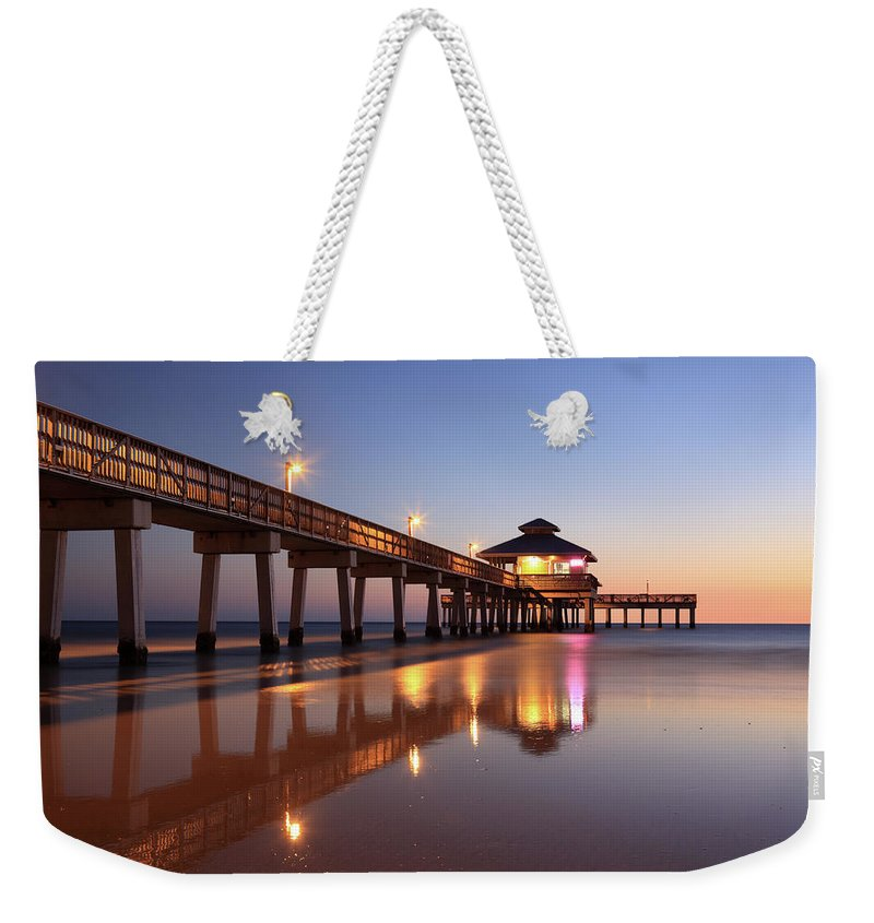 Built Structure Weekender Tote Bag featuring the photograph Fort Myers Beach, Florida by Jumper