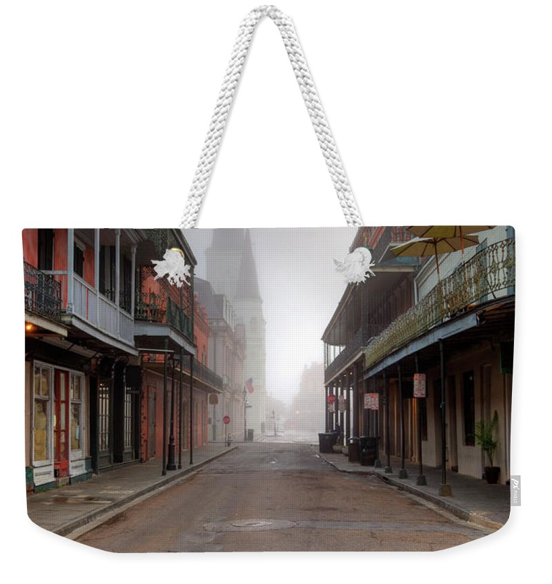 Nightclub Weekender Tote Bag featuring the photograph French Quarter New Orleans by Denistangneyjr
