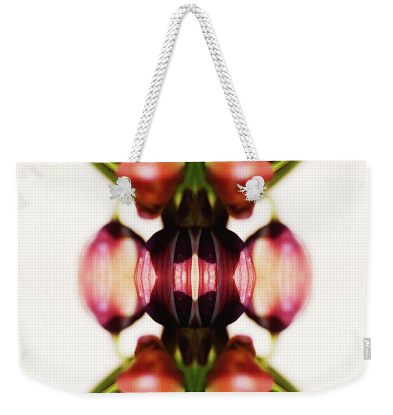 Bud Weekender Tote Bag featuring the photograph Fritillaria Flower by Silvia Otte