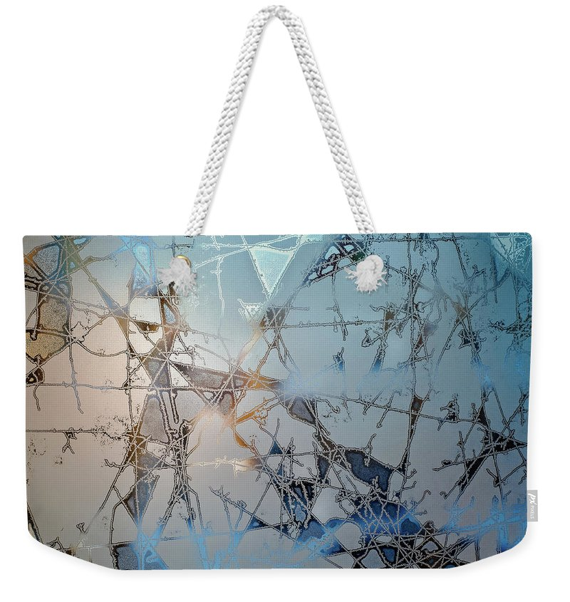 Ice Weekender Tote Bag featuring the photograph Frozen City Of Ice by Scott Norris