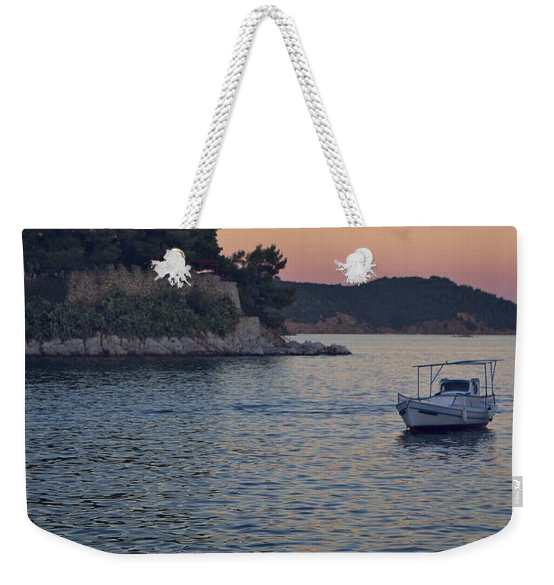 Tranquility Weekender Tote Bag featuring the photograph Full Moon Rising by Dreaming For A Living