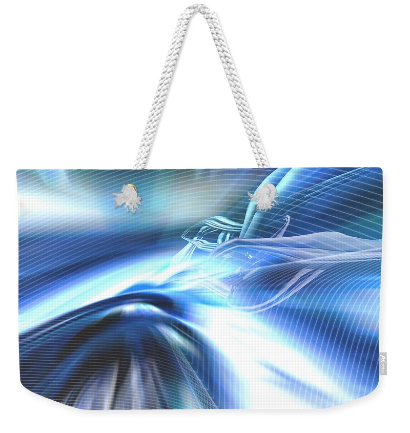 Computer Weekender Tote Bag featuring the photograph Futura01 Remix by Alwyncooper
