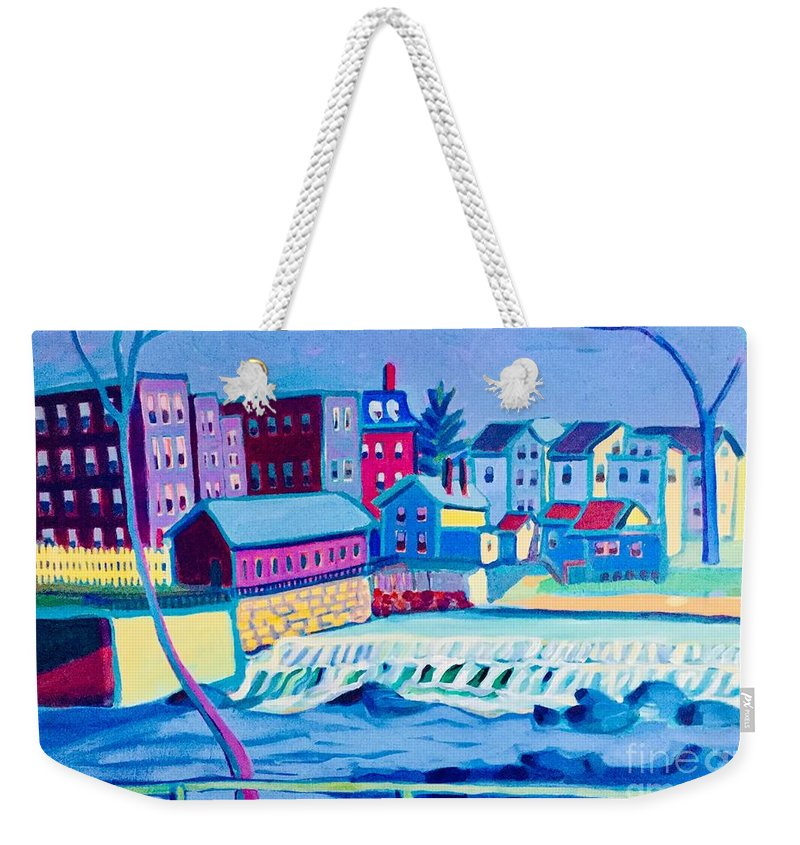 Franco American School Weekender Tote Bag featuring the painting Gateway to the Grotto by Debra Bretton Robinson