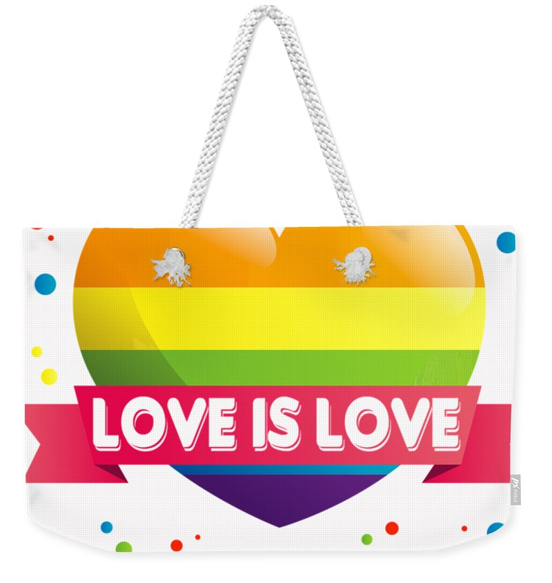 LOVE Rainbow Heart Tote Bag