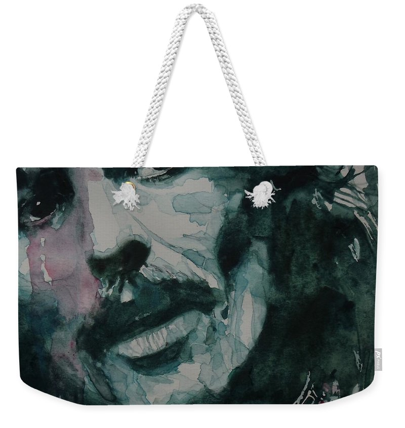 The Beatles Weekender Tote Bag featuring the painting George Harrison - All Things Must Pass by Paul Lovering