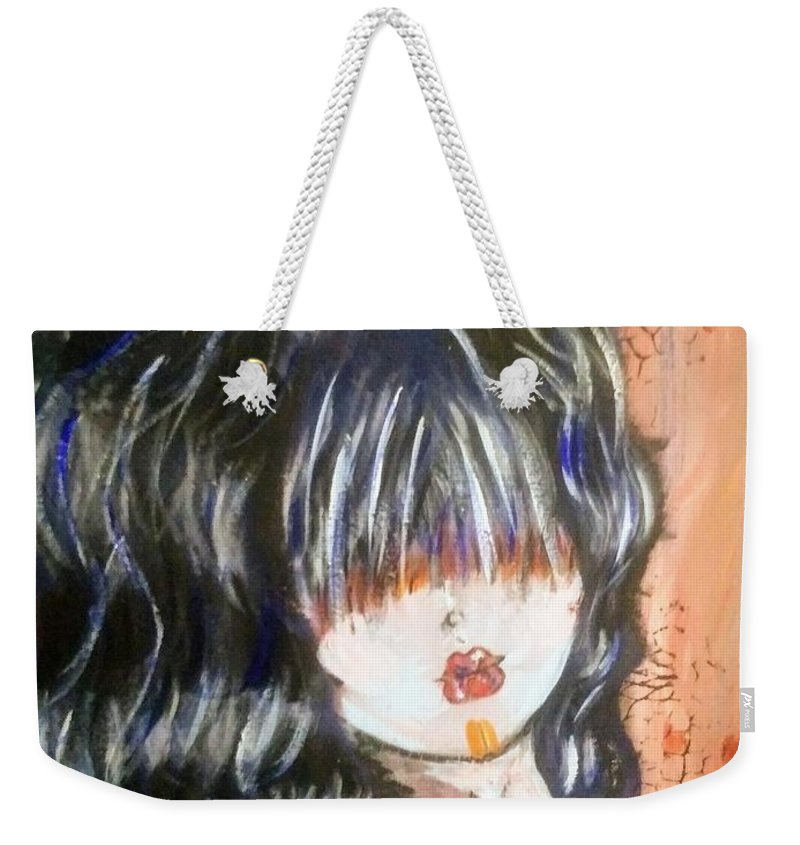 Painting Weekender Tote Bag featuring the painting Ghoul by Jonathan Peterson