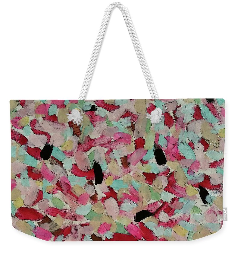 Modern Weekender Tote Bag featuring the painting Ginette by Jordan Harcourt-Hughes
